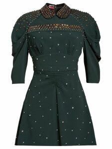 Miu Miu studded Sablé dress - Green