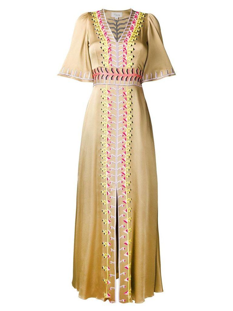 Temperley London Traveller long dress - Neutrals