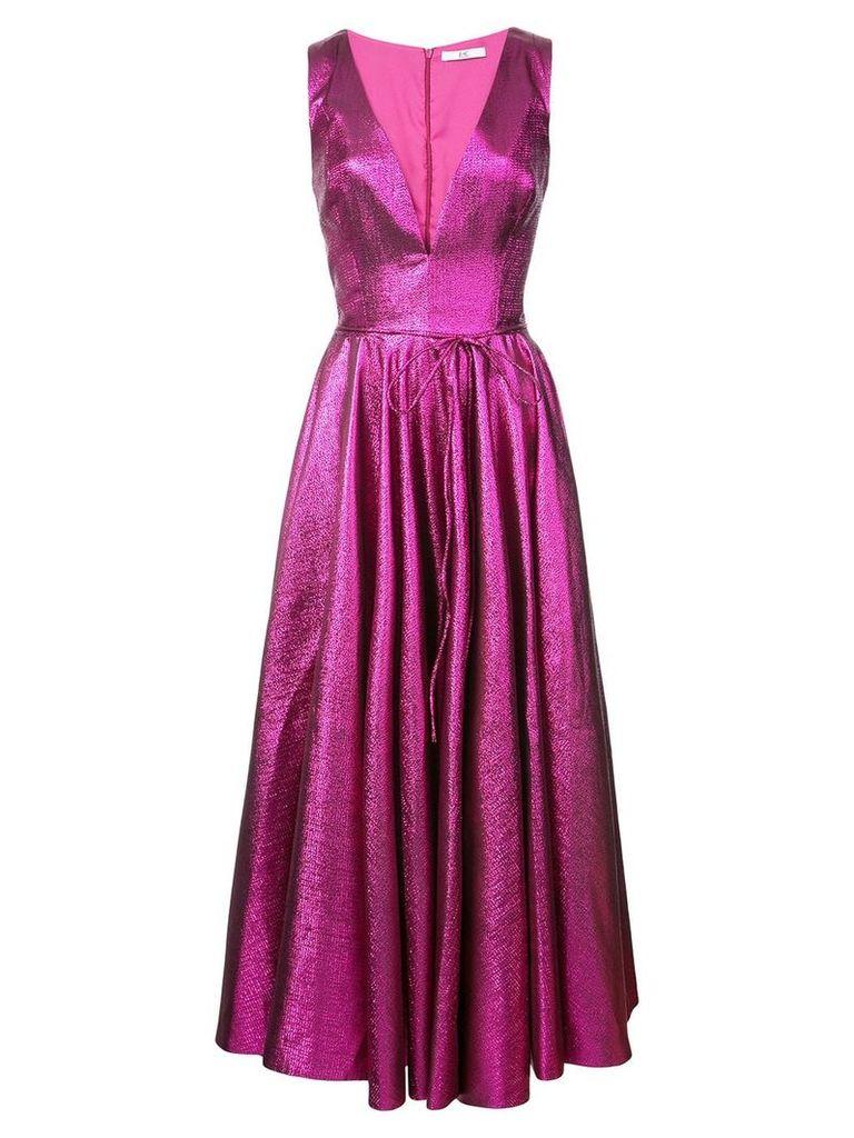 Zac Zac Posen v-neck flared dress - Pink