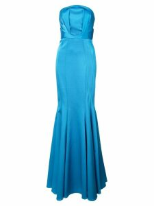 Zac Zac Posen Nolita strapless gown - Blue