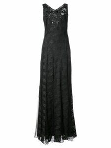 Zac Zac Posen Adel geometric print gown - Black