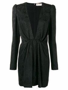 Saint Laurent V-neck fitted dress - Black
