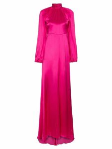 Gucci high neck silk maxi gown - Pink