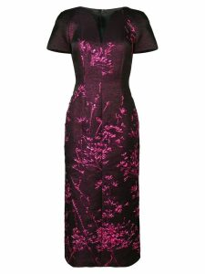 Talbot Runhof metallic twig detail dress - Pink