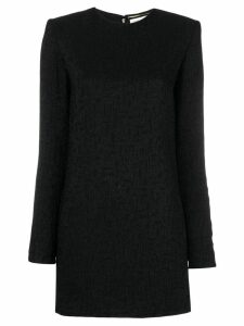 Saint Laurent jacquard pattern mini dress - Black