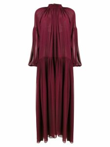Stella McCartney oversized sheer dress - Red