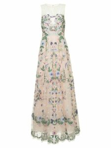 Zuhair Murad jewel neck fully embellished tulle ball gown - Pink