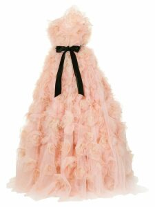 Marchesa strapless tulle degrade layered dramatic ballgown - Pink