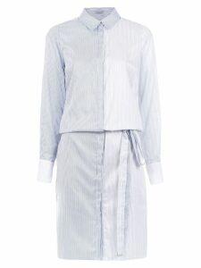 Tufi Duek striped shirt dress - White