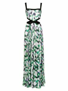 Tufi Duek long printed dress - Green
