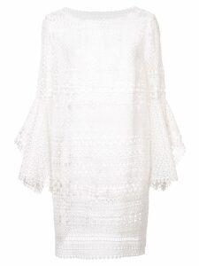 Oscar de la Renta Mykonos broderie anglaise dress - White
