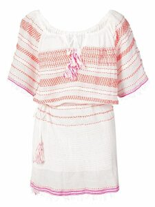 Lemlem Tiki drawstring cover up - White