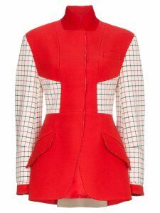 Alexander McQueen Check Patch Blazer - Red