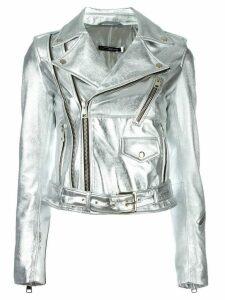 Manokhi metallic biker jacket