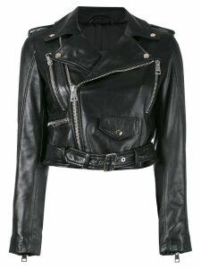 Manokhi zipped biker jacket - Black