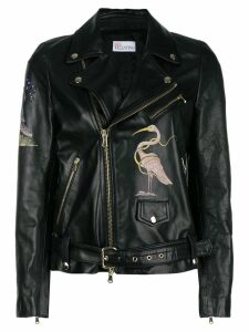 Red Valentino flamingo zipped jacket - Black