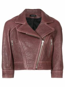 Yigal Azrouel cropped biker jacket - Red