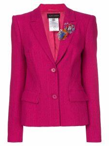 Talbot Runhof flower embellished fitted jacket - Pink