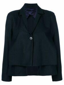 Henrik Vibskov cropped pleat blazer - Blue