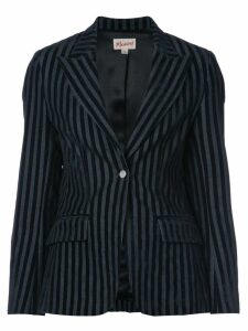 Miaou striped velvet blazer - Black
