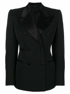 Tom Ford contrast lapel fitted blazer - Black