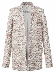 Adam Lippes tweed long line blazer - Neutrals