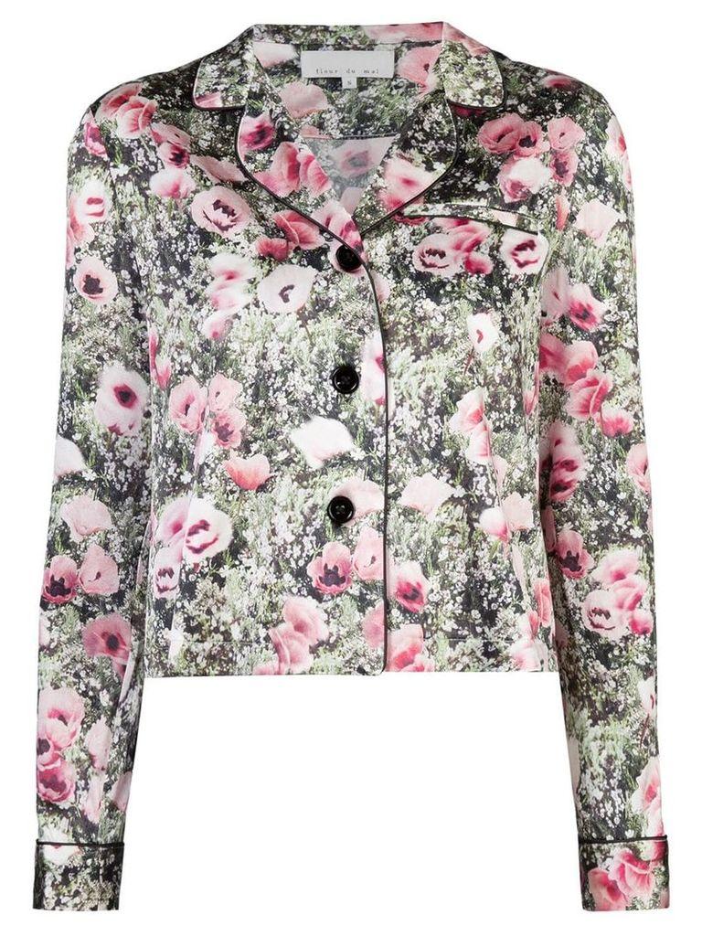 Fleur Du Mal poppy printed jacket - Green