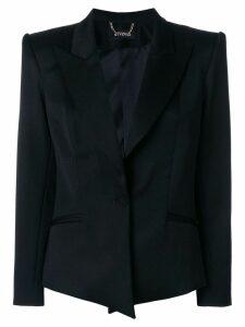 Styland structured button up blazer - Black