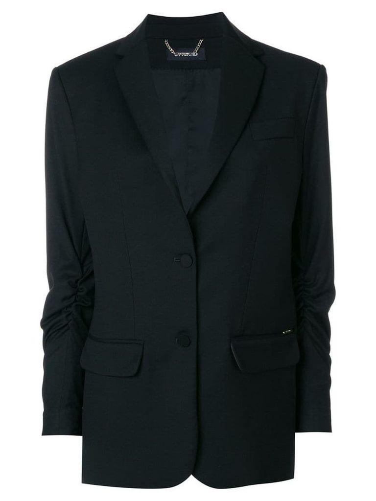 Styland gathered sleeved blazer - Black
