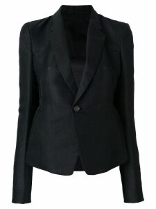 Rick Owens striped fitted blazer - Black