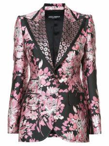 Dolce & Gabbana floral lurex jacquard jacket - Pink