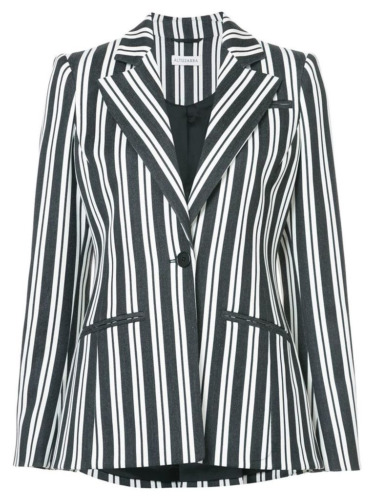 Altuzarra belted striped blazer - Black