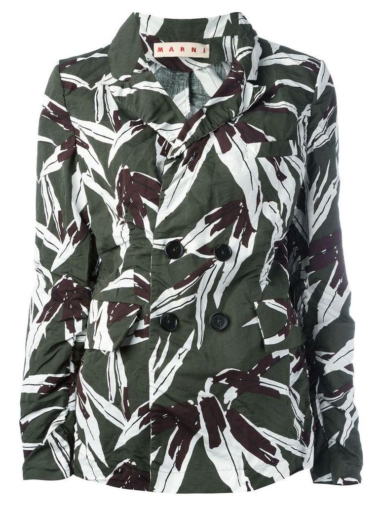 Marni leaf pattern blazer - Green
