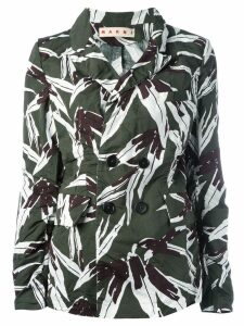 Marni leaf pattern blazer - Green