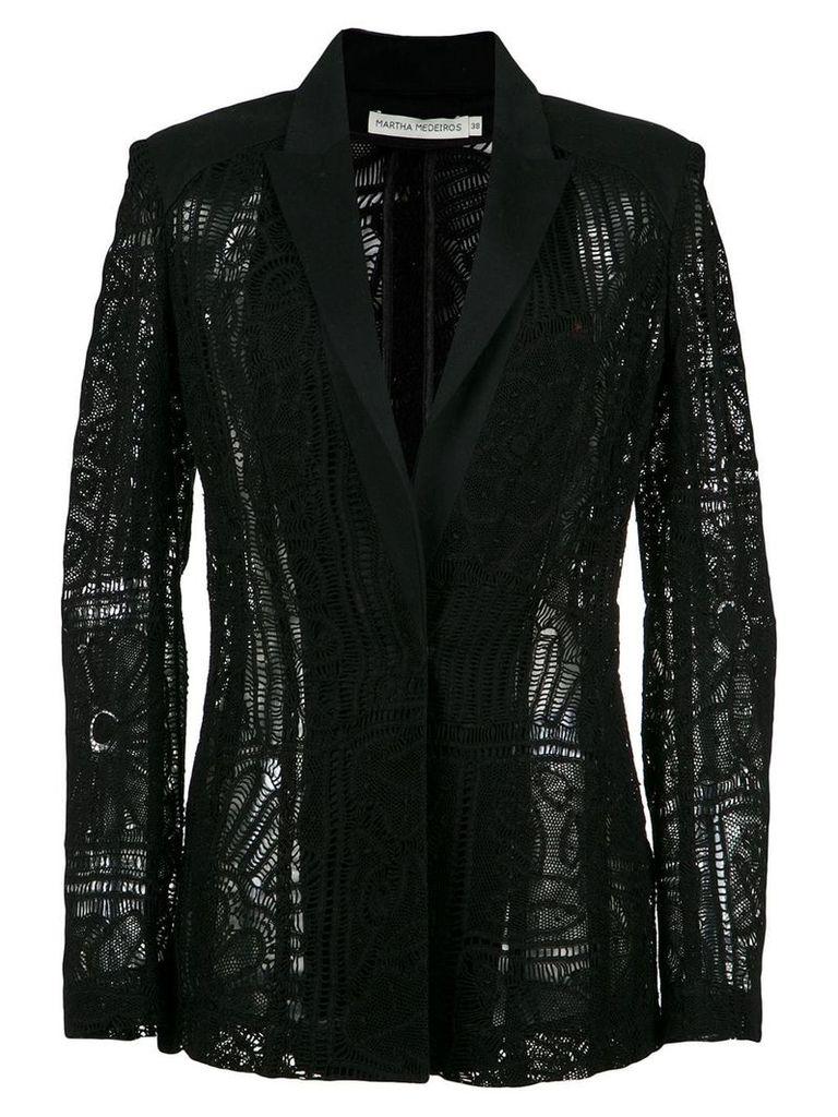 Martha Medeiros lace blazer - Black