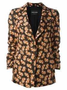 Emporio Armani printed blazer - Black