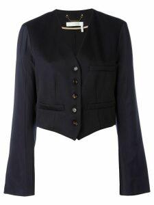 Chloé cropped blazer - Blue
