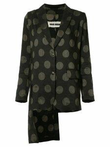 Uma Wang dotted blazer - Black