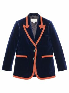 Gucci Web trim blazer - Blue