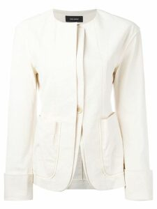 Isabel Marant collarless layered blazer - Neutrals