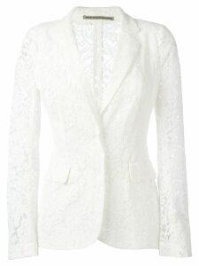 Ermanno Scervino lace blazer - White