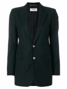 Saint Laurent single breasted plunge blazer - Black