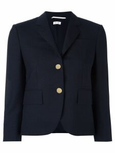 Thom Browne Classic Single Breasted Sport Coat In Navy 2-Ply Wool
