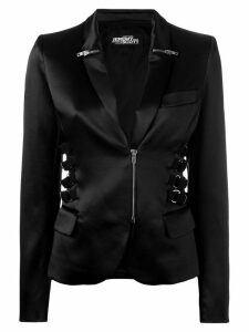 Jeremy Scott zip & strap detail blazer - Black