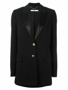 Givenchy peaked lapel long length blazer - Black