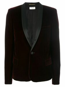 Saint Laurent Le Smoking single-breasted jacket - Red