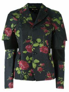 Comme Des Garçons flower print jacket - Black