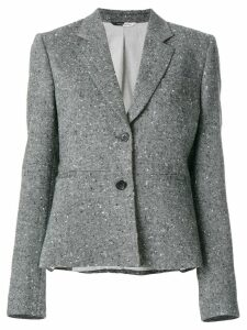 PS Paul Smith fitted embroidered blazer - Grey