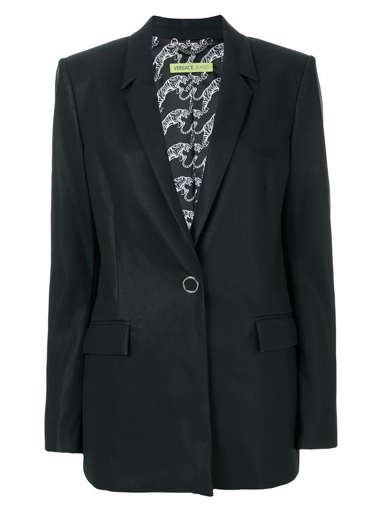 Versace Jeans single breasted blazer - Black