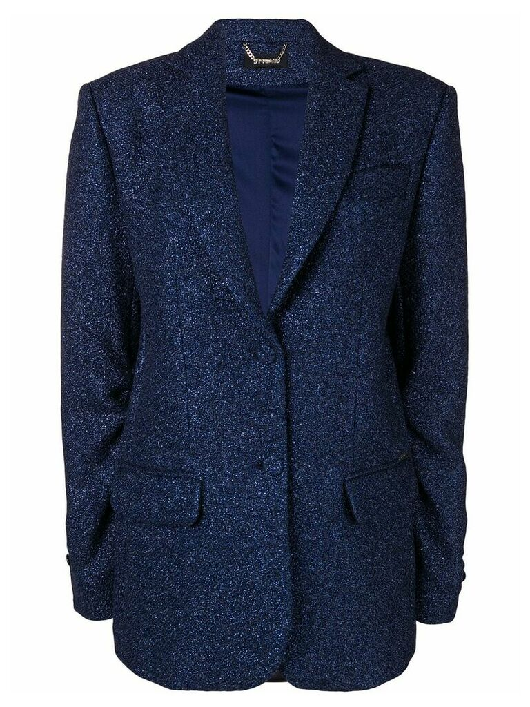 Styland glittered crepe blazer - Blue